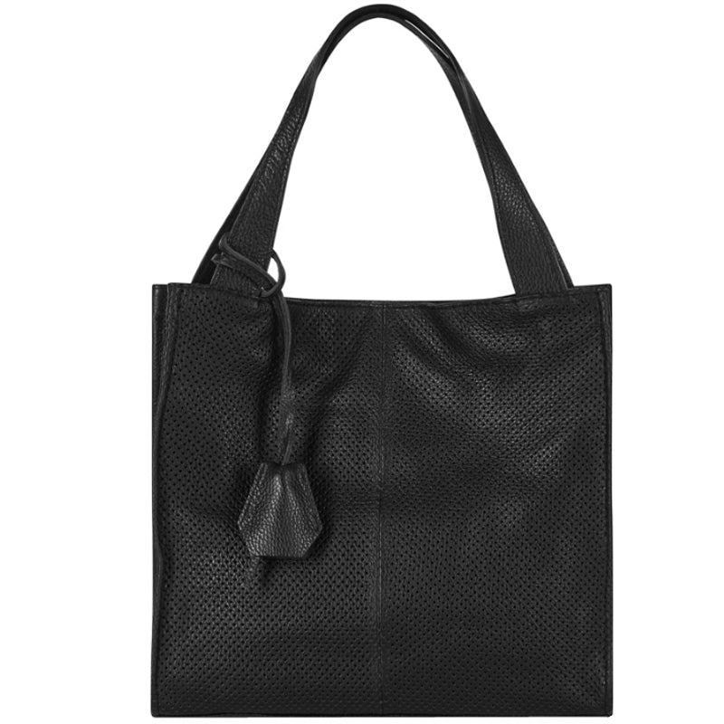 Your bag Heaven Black Soft Leather Shopper Tote Bag Work Bag
