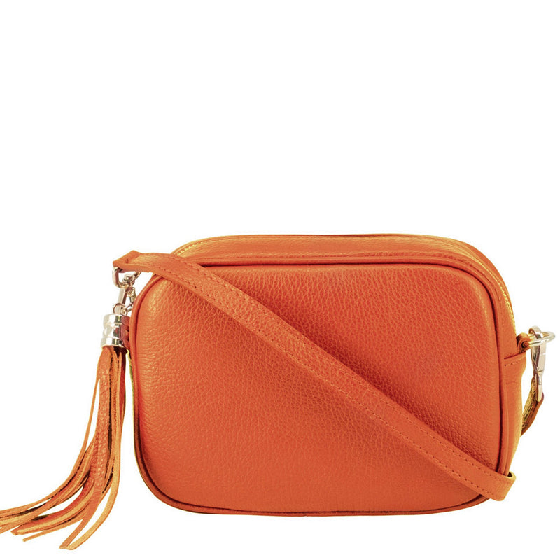 Your Bag Heaven Orange Leather Crossbody Bag Shoulder Bag