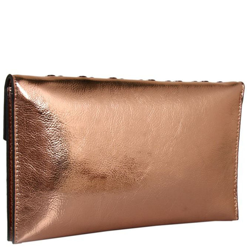 Red Cuckoo Metallic Champagne Vegan Clutch Bag Cross Body Shoulder Bag