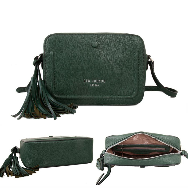 Red Cuckoo Green Vegan Grab Bag Cross Body Shoulder Bag