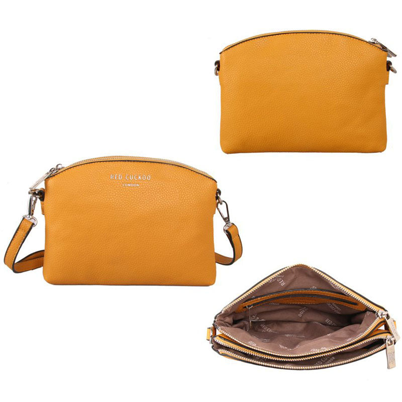 Red Cuckoo Vegan Yellow Cross Body Shoulder Bag