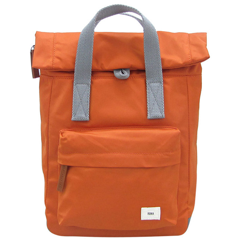 Roka Burnt Orange Grab Bag Ladies Backpack Mens Backpack Vegan Product #With Free Delivery