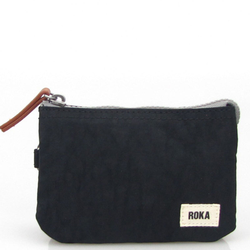 Roka Black Three Section Coin Card Purse Organiser Wallet Vegan Product