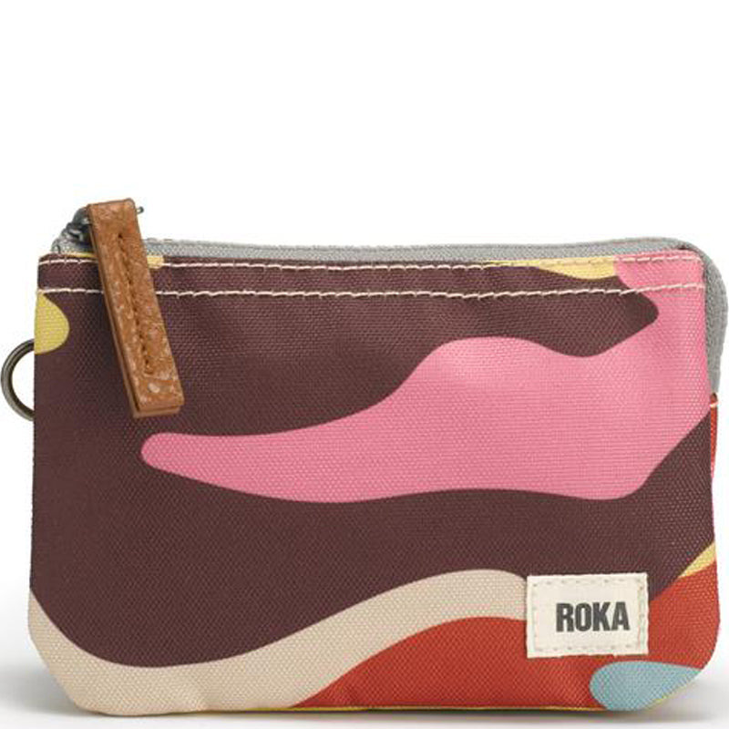 Roka Camo Three Section Coin Card Purse Organiser Wallet Vegan Product Sustainable Product