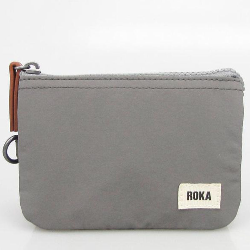 Roka Graphite Three Section Coin Card Purse Organiser Wallet Vegan Product