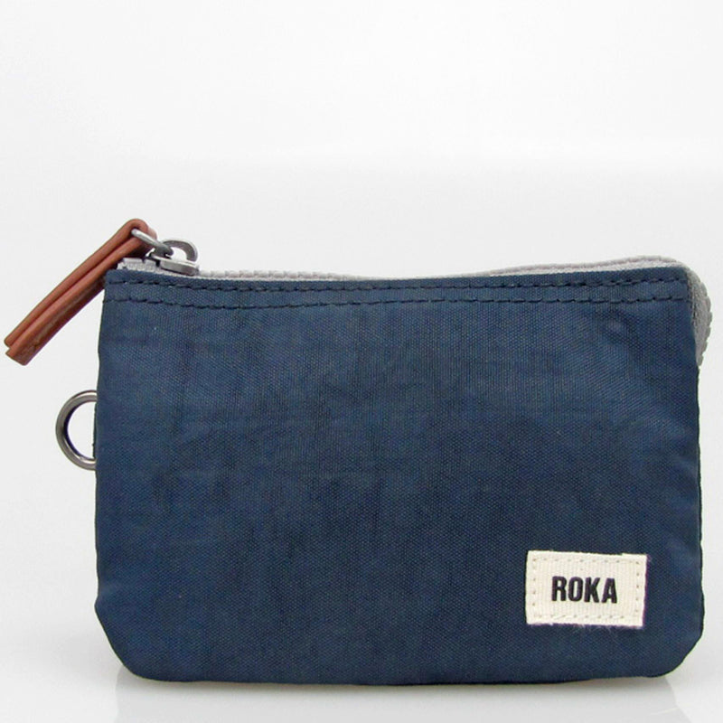 Roka Midnight Three Section Coin Card Purse Organiser Wallet Vegan Product