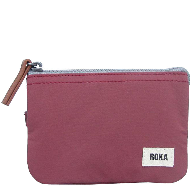Roka Plum Three Section Coin Card Purse Organiser Wallet Vegan Product
