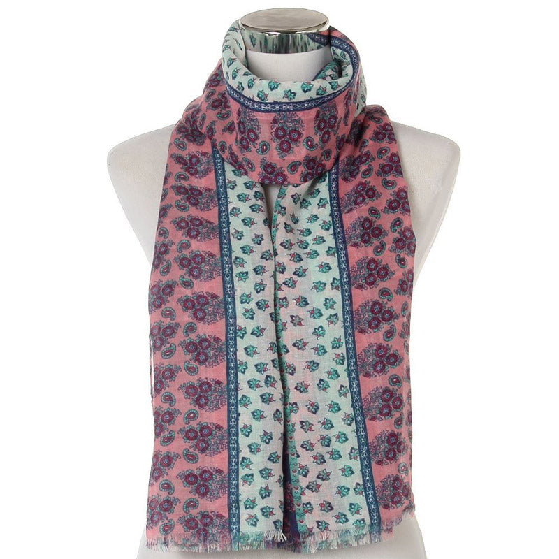 Click And Collect (Scarf Collection) Multicoloured Ladies Frayed Scarf