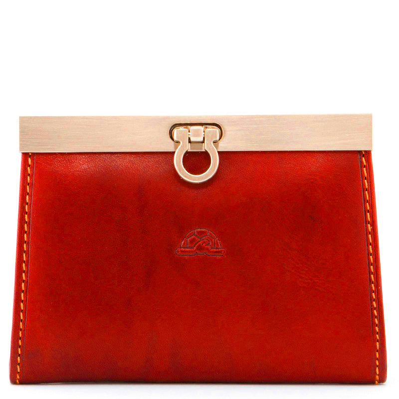 Tony Perotti Red Leather Card Coin Purse