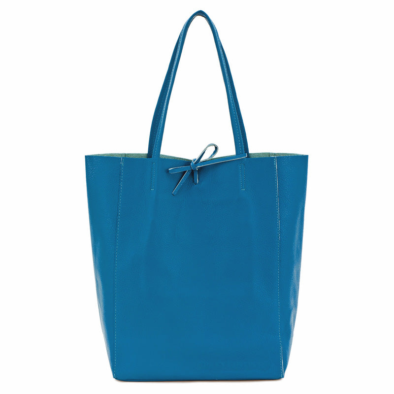Your Bag Heaven Royal Blue Soft Leather Tote Shopper Bag