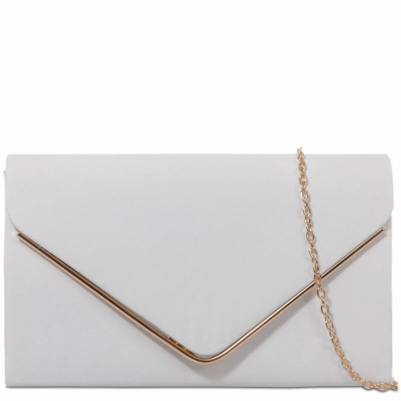 Your Bag Heaven White Clutch Bag Evening Bag Shoulder Bag