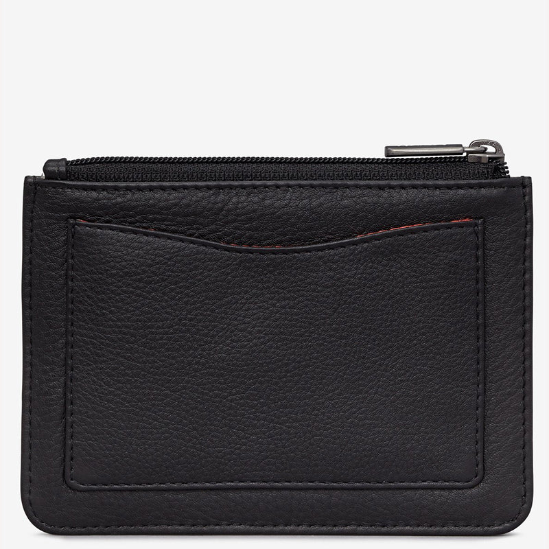 Yoshi Black Leather Coin And Card Purse
