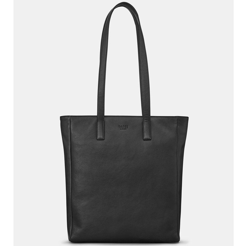 Yoshi Black Soft Leather Shoulder Bag Work Bag Tote Bag