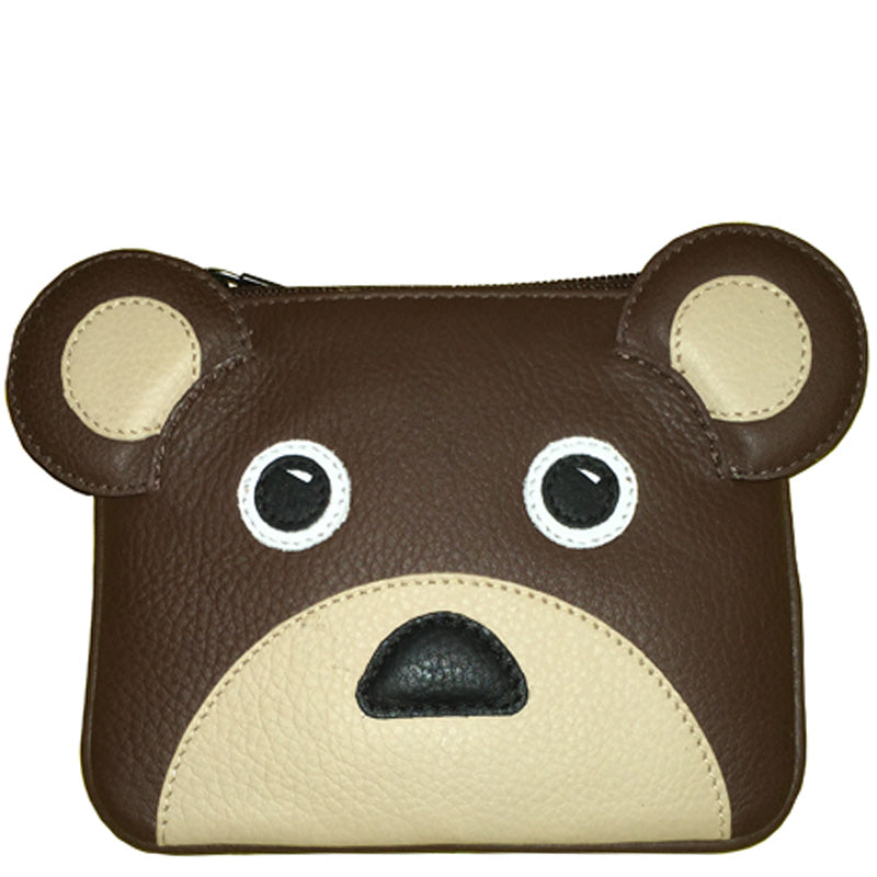 Yoshi Brown Soft Leather Coin Card Purse