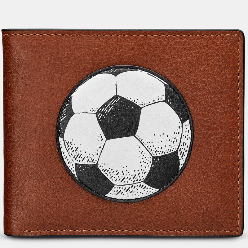 Yoshi Brown Multi Leather Mens Football Wallet