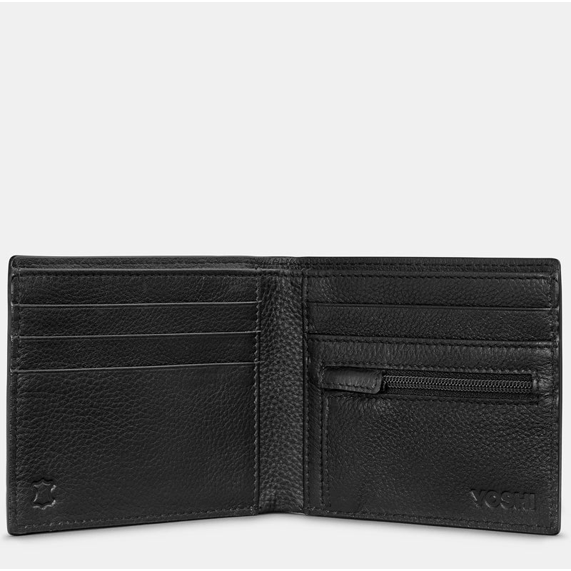 Yoshi Black Multi Leather Mens Banksy Wallet