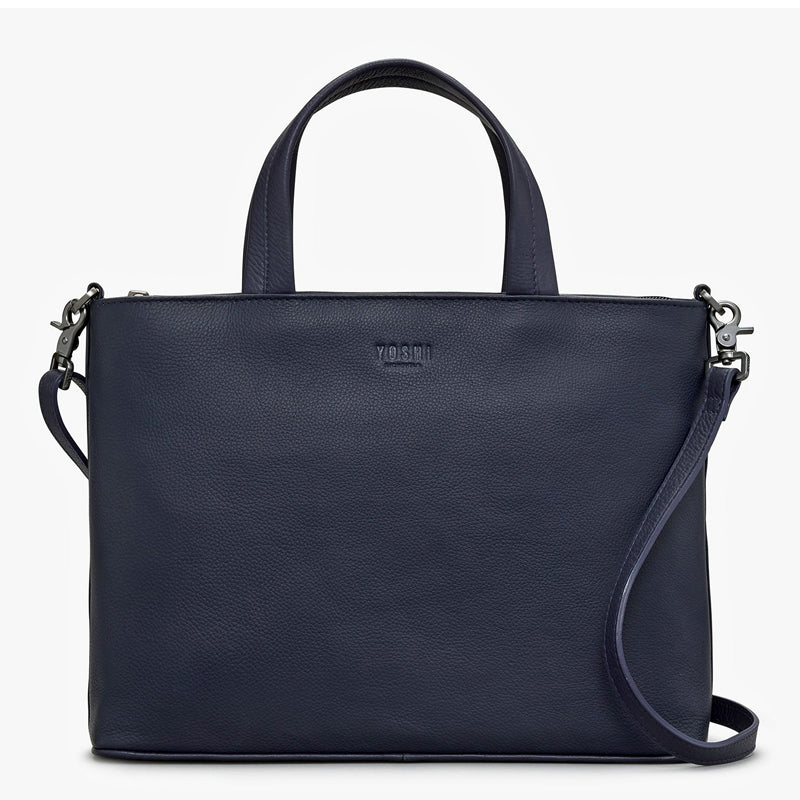 Yoshi Navy Blue Soft Leather Grab Bag Cross Body Bag Shoulder Bag