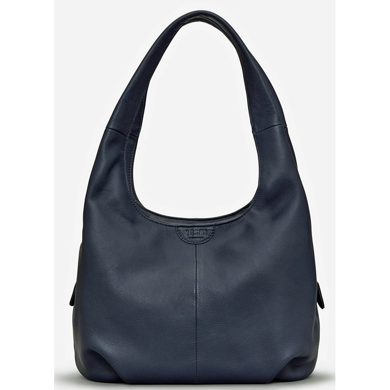 Yoshi Navy Blue Soft Leather Shoulder Bag