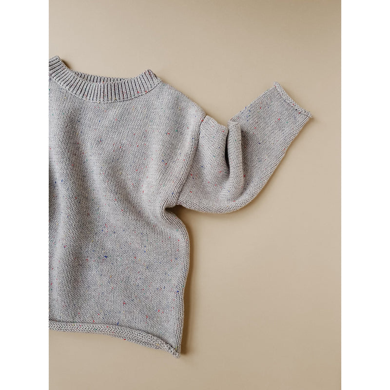 KIDS OF APRIL GREY RAINBOW SPECKLE KNIT