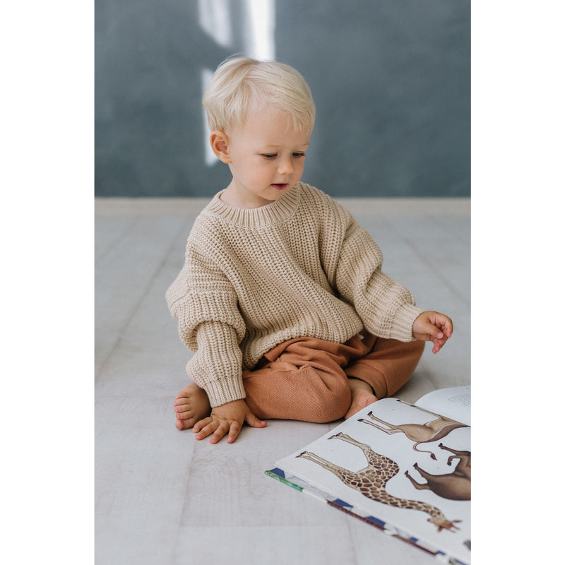KIDS OF APRIL ALMOND CHUNKY KNIT (PRE ORDER)