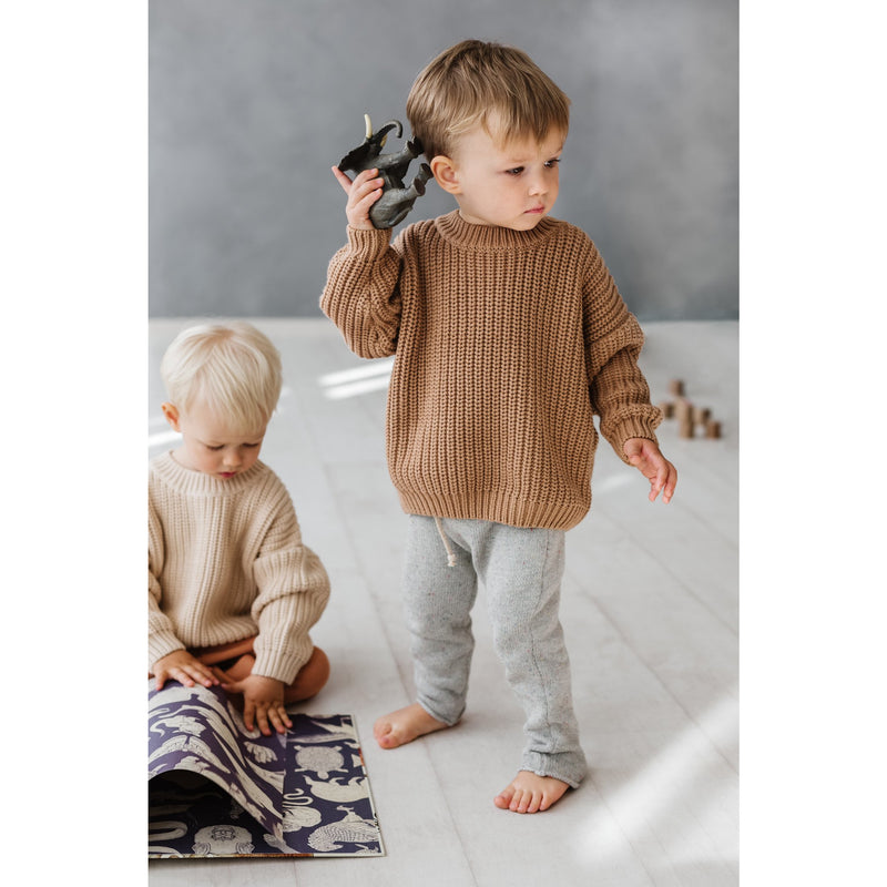 Kids Of April Toffee Chunky Knit
