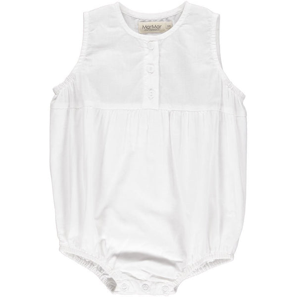 MARMAR COPENHAGEN WHITE ROMMY COTTON ROMPER