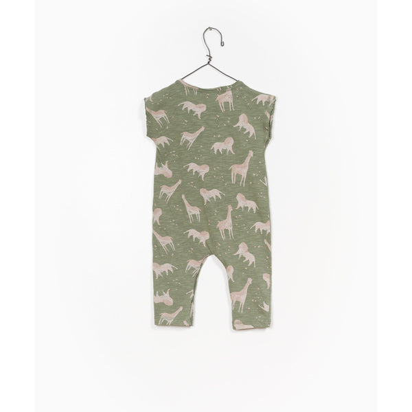 PLAY UP KHAKI JUNGLE ROMPER