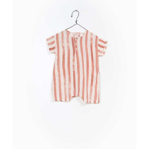 PLAY UP BRICK STRIPE ROMPER