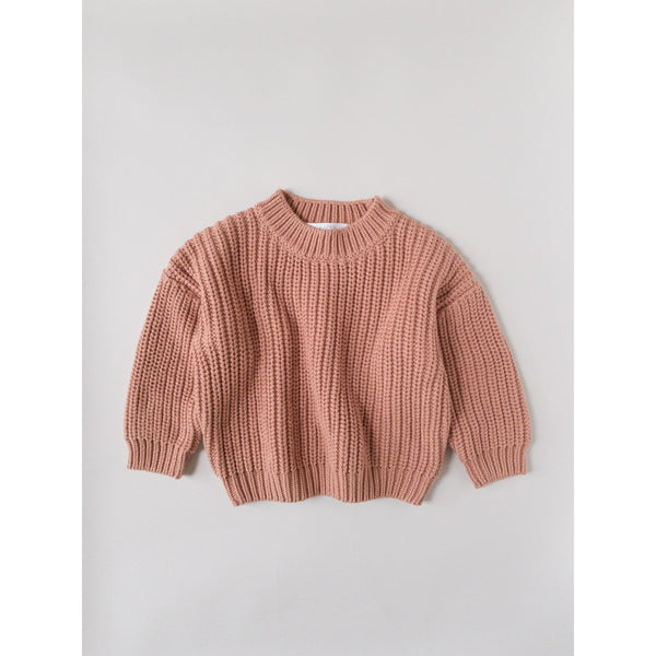 Kids Of April Terracotta Chunky Knit