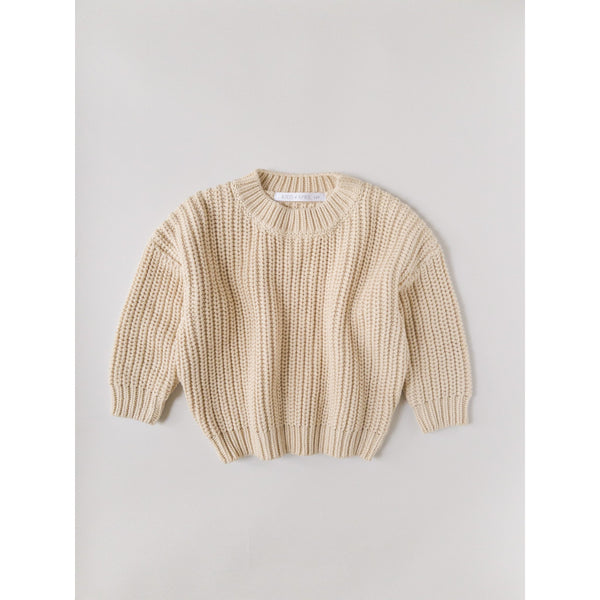 Kids Of April Almond Chunky Knit