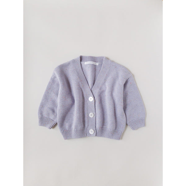 Kids Of April Lavender Rainbow Speckle Cardigan