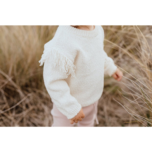 Grown Milk Frill Jumper