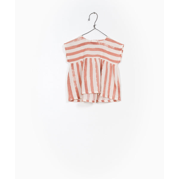 PLAY UP BRICK STRIPE SMOCK TOP