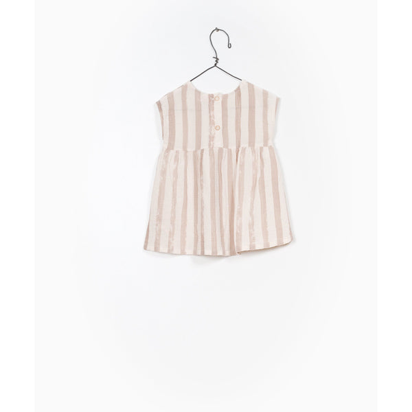 PLAY UP CLAY STRIPE SMOCK DRESS