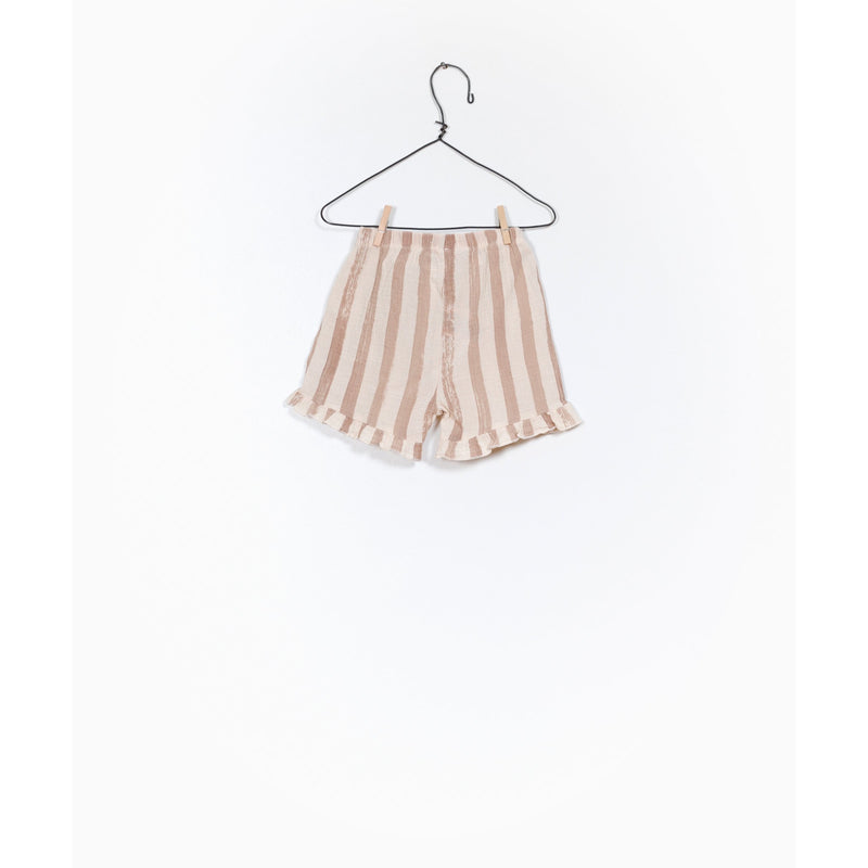 PLAY UP CLAY STRIPE FRILL BLOOMER SHORTS
