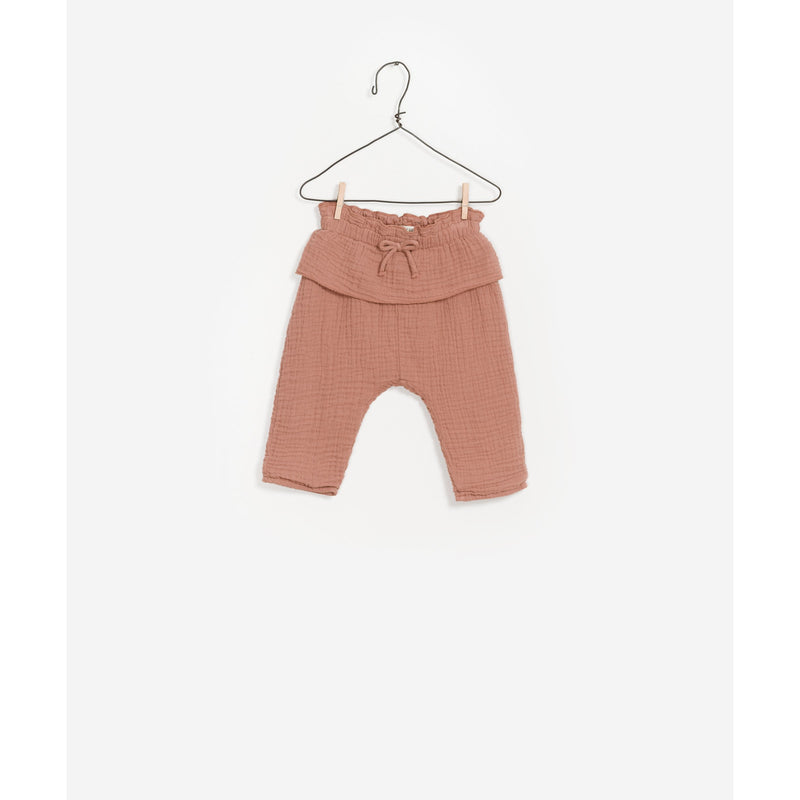 PLAY UP JAM MUSLIN FRILL TROUSERS