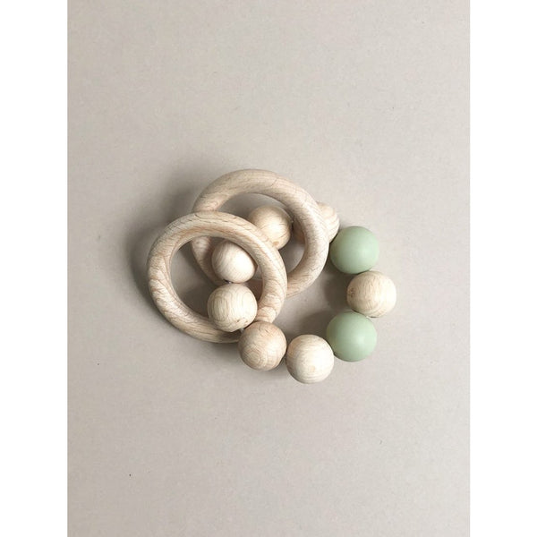 Bezisa Basics Sage Natural Rattle