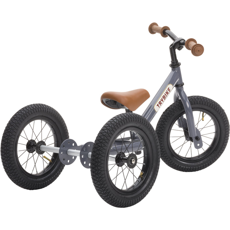 TRYBIKE 2 IN 1 VINTAGE STEEL BALANCE BIKE