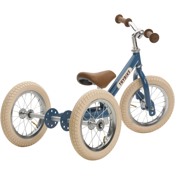 TRYBIKE 2 IN 1 VINTAGE BLUE BALANCE BIKE