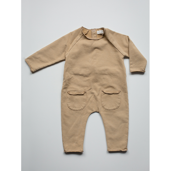THE SIMPLE FOLK CAMEL COZY ROMPER