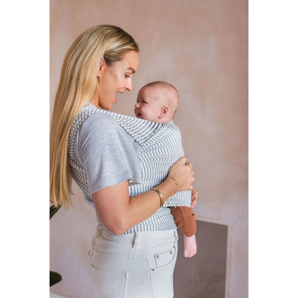 Smallhausen Grey Marl Stripe Baby Wrap