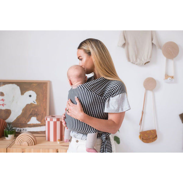 Smallhausen Charcoal Stripe Baby Wrap