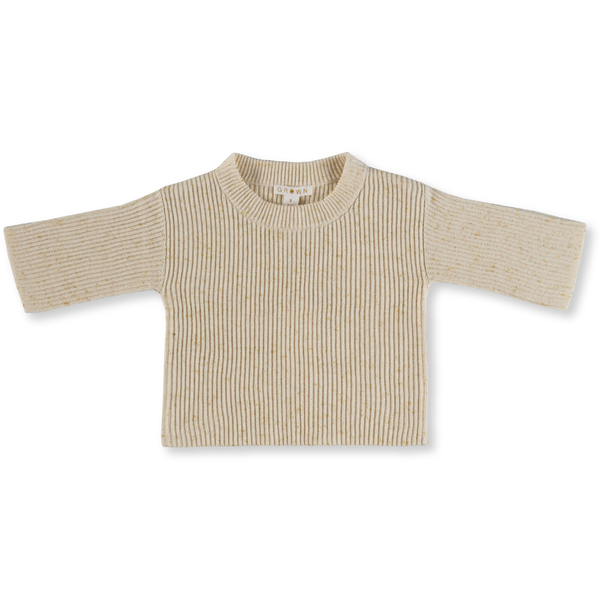 Grown Golden Speckle Rib Pull Over