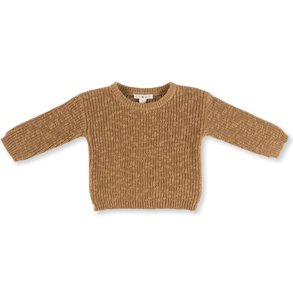 Grown Brown Chunky Rib Jumper
