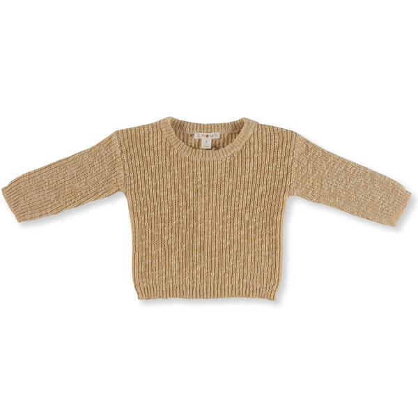 Grown Tan Chunky Rib Jumper