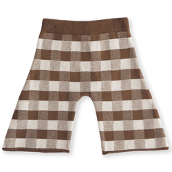 GROWN GINGHAM EARTH AND CLAY KNITTED PANTS