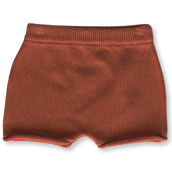 GROWN KNITTED RUST SHORTS
