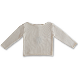 GROWN BOAT NECK MILK PULL OVER