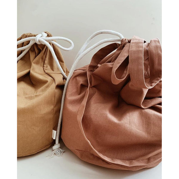 HAPS NORDIC ORGANIC CANVAS STORAGE BAG ( 2 COLOURS)