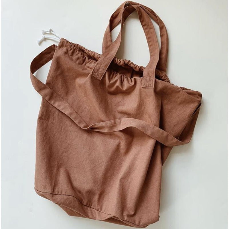 HAPS NORDIC ORGANIC CANVAS TERRACOTTA SHOPPING BAG